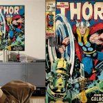 Thedecofactory RMK1648SLG Stickers Marvel Thor Comic Book GÌANT ROOMMATES REPOSITIONNABLES (61X87CM), Vinyle, Multicolore, 180 x 90 x 0,1 cm de la marque Thedecofactory image 2 produit