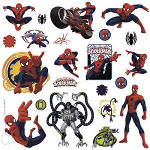 Thedecofactory RMK1795SCS Marvel Spiderman ROOMMATES REPOSITIONNABLES (22 Stickers) 24972161, Vinyle, Multicolore, 104 x 26 x 2,5 cm de la marque Thedecofactory image 0 produit