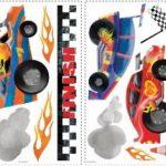 Thedecofactory RMK1865SCS Voitures DE Course REPOSITIONNABLES (24 Stickers-JUSQU'ÌÊ 25CM), Vinyle, Multicolore, 104 x 26 x 2,5 cm de la marque Thedecofactory image 2 produit