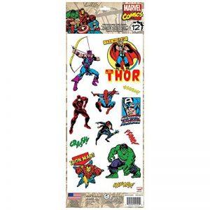Thedecofactory RMK3140MS Marvel Comics Classic ROOMMATES REPOSITIONNABLES (12 Stickers), Vinyle, Multicolore, 36 x 14 x 0,1 cm de la marque Thedecofactory image 0 produit