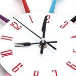 Timelike Horloge de cuisine effet miroir en forme de cuillère, fourchette, couverts, adhésif amovible en 3d pour décoration de la maison 32*32*4CM argent métallique de la marque Timelike image 3 produit
