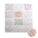 Tinksky 50 feuilles de couleurs mélangées 3D conçoivent auto-adhésives Tip Nail Art Stickers autocollants à ongles conseils décorations (couleur aléatoire) de la marque Tinksky image 1 produit