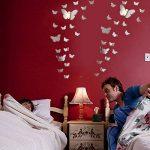 Tomkity 60 Pièces 3D Papillons Miroir Décoration Stickers Muraux Autocollants Pour chambre Salon (60 papillon argenté) de la marque Tomkity image 4 produit