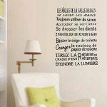 TOOGOO(R) l'autocollants muraux de la Citations en version francaise impermeables pour la salle de bain la decoration interieure,l'autocollants en PVC - noir de la marque TOOGOO image 1 produit