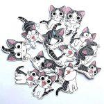 ⭐️ Top Stickers ! ⭐️ Lot de 14 Stickers Chi Une Vie De Chat - Autocollant Top Qualité et Non Vulgaires – Chi's Sweet Home - Customisation ordinateur portable, bagages, moto, vélo, mur... (#14-CHI) de la marque SetProducts image 3 produit