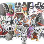 ⭐️ Top Stickers ! ⭐️ Lot de 25 Stickers Star Wars - Autocollant HD Non Vulgaires – Style, Cool, Bomb, Dark Vador - Customisation portable, bagages, moto, vélo, skateboard, murs (#25-Star Wars 2) de la marque SetProducts image 1 produit