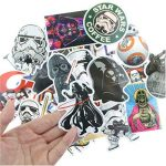 ⭐️ Top Stickers ! ⭐️ Lot de 25 Stickers Star Wars - Autocollant HD Non Vulgaires – Style, Cool, Bomb, Dark Vador - Customisation portable, bagages, moto, vélo, skateboard, murs (#25-Star Wars 2) de la marque SetProducts image 4 produit
