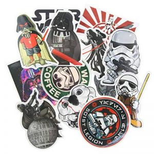 ⭐️ Top Stickers ! ⭐️ Lot de 25 Stickers Star Wars - Autocollant HD Non Vulgaires – Style, Cool, Bomb, Dark Vador - Customisation portable, bagages, moto, vélo, skateboard, murs (#25-Star Wars 2) de la marque SetProducts image 0 produit