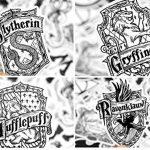 ⭐️ Top Stickers ! ⭐️ Lot de 31 Stickers Black and White Harry Potter - Autocollant Top Qualité Non Vulgaires – Fun, Bomb - Customisation pc Portable, Valises, Vélo, Skate, Trotinettes de la marque SetProducts image 1 produit