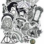 ⭐️ Top Stickers ! ⭐️ Lot de 31 Stickers Black and White Harry Potter - Autocollant Top Qualité Non Vulgaires – Fun, Bomb - Customisation pc Portable, Valises, Vélo, Skate, Trotinettes de la marque SetProducts image 4 produit