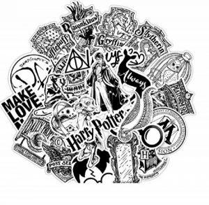 ⭐️ Top Stickers ! ⭐️ Lot de 31 Stickers Black and White Harry Potter - Autocollant Top Qualité Non Vulgaires – Fun, Bomb - Customisation pc Portable, Valises, Vélo, Skate, Trotinettes de la marque SetProducts image 0 produit