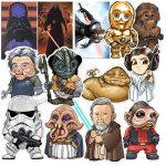 ⭐️ Top Stickers ! ⭐️ Lot de 35 Stickers Star Wars - Autocollant Top Qualité Non Vulgaires – Bomb, Dark Vador - Customisation portable, bagages, moto, vélo, skate, trotinettes, murs (#35-Star Wars) de la marque SetProducts image 4 produit