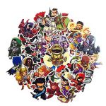 ⭐️ Top Stickers ! ⭐️ Lot de 50 Stickers Marvel - Autocollants HD Non Vulgaires – Bomb, Super Heros, Hulk, Spiderman, Superman, Tortues Ninja - Customisation, Scrapbooking, personnalisation… de la marque SetProducts image 2 produit