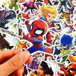 ⭐️ Top Stickers ! ⭐️ Lot de 50 Stickers Marvel - Autocollants HD Non Vulgaires – Bomb, Super Heros, Hulk, Spiderman, Superman, Tortues Ninja - Customisation, Scrapbooking, personnalisation… de la marque SetProducts image 3 produit