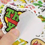 ⭐️ Top Stickers ! ⭐️ Lot de 50 Stickers Texte Onomatopées - Autocollant Top Qualité – Yeah Boom Wow Crack Go Stop Cool - Customisation ordinateur portable, bagages, moto, vélo… (#50-TEXTES) de la marque SetProducts image 4 produit