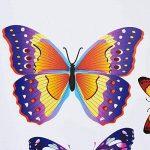 Topmail 50 Pcs Papillons Colorés Stickers Muraux Imperméables DIY Autocollants Muraux en PVC Décoration Murale Amovible pour Chambre Enfants Adultes Chevet Salon Cuisine Escalier Toilette de la marque Topmail image 3 produit