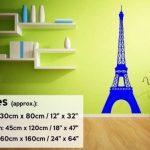 """Tour Eiffel Sticker Mural, Noir, Medium: 45cm x 120cm / 18"""" x 47"""" de la marque Broomsticker image 2 produit"""