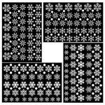 Tout en un fenêtre fenêtre statique autocollant autocollant Traceless Stickers muraux, magasin de Noël bricolage Clings Home Stickers mur de verre, 4 Pcs 152 flocons de neige blanche 68 points ronds de la marque Pandas-Mall image 1 produit