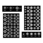 Tout en un fenêtre fenêtre statique autocollant autocollant Traceless Stickers muraux, magasin de Noël bricolage Clings Home Stickers mur de verre, 4 Pcs 152 flocons de neige blanche 68 points ronds de la marque Pandas-Mall image 2 produit