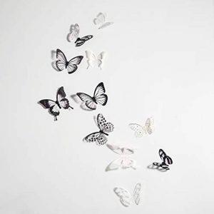 TUPARKA 72 Pièces 3D Papillon Stickers Muraux Mur Papillons Wall Art Autocollants Pour La Décoration De La Chambre DIY Artisanat de la marque Tuparka image 0 produit