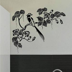 tzxdbh Style Oriental Arbre & Oiseau Sticker Mural Decal Art Transfert Graphique Pochoir Enfants Chambre Animal Stickers Muraux Décoratif 50 * 62 Cm de la marque tzxdbh image 0 produit