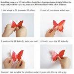 ufengke® 12 Pcs 3D Papillons Stickers Muraux Design de Mode Bricolage Papillon Art Autocollants Artisanat Décoration de La Maison, Blanc de la marque ufengke-décor image 4 produit
