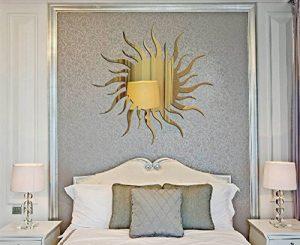 Ufengke® 3D Motif Soleil Effet De Miroir Stickers Muraux Design À La Mode Art De Décalque Décoration De La Maison D'or de la marque ufengke-décor image 0 produit