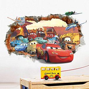 Ufengke® 3D Mur Endommagé Dessin Animé Voitures Avions Stickers Muraux, Chambre Des Enfants Pépinière Autocollants Amovibles de la marque ufengke-décor image 0 produit