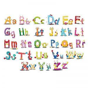 ufengke Adhesif Stickers Muraux Lettres Animaux Decoration Autocollant Mural Texte pour Chambre Bébé Enfants Salon de la marque ufengke home image 0 produit