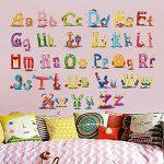 ufengke Adhesif Stickers Muraux Lettres Animaux Decoration Autocollant Mural Texte pour Chambre Bébé Enfants Salon de la marque ufengke home image 2 produit