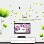 Ufengke® Belles Fleurs Vertes Stickers Muraux,Salon Salle De Séjour Chambre À Coucher Décalcomanies Murales Autocollants Amovibles de la marque ufengke-décor image 1 produit