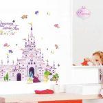 ufengke® Château de Princesse de Dessin Animé Stickers Muraux, la Chambre des Enfants Pépinière Autocollants Amovibles de la marque ufengke-décor image 3 produit