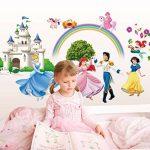 """ufengke® """"Château de Princesse"""" Princesse et Le Prince Stickers Muraux, La Chambre des Enfants Pépinière Autocollants Amovibles de la marque ufengke-décor image 2 produit"""