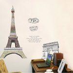 ufengke® Célèbre Tour Eiffel Série de Bâtiments de Paris et l'Arc de Triomphe Stickers Muraux, Salle de Séjour Chambre à Coucher Autocollants Amovibles de la marque ufengke-décor image 3 produit