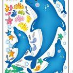ufengke® Dauphins Mignons et de Petits Poissons Stickers Muraux, La Chambre des Enfants Pépinière Autocollants Amovibles de la marque ufengke-décor image 3 produit