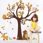 Ufengke® Dessin Animé Forêt Animaux Hibou Singe Ours Arbre Stickers Muraux,La Chambre Des Enfants Pépinière Autocollants Amovibles de la marque ufengke-décor image 1 produit