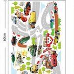 ufengke Dessin Animé Voiture de Course Avion Stickers Muraux, La Chambre des Enfants Pépinière Autocollants Amovibles de la marque ufengke-décor image 3 produit