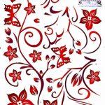 ufengke® Fleur de Vigne Rouge et Papillons Stickers Muraux, Salle de Séjour Chambre à Coucher Autocollants Amovibles de la marque ufengke-décor image 3 produit