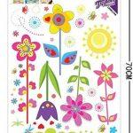 ufengke® Fleurs Colorées Mignon Papillons Soleil Stickers Muraux, La Chambre des Enfants Pépinière Autocollants Amovibles de la marque ufengke-décor image 2 produit