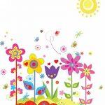 ufengke® Fleurs Colorées Mignon Papillons Soleil Stickers Muraux, La Chambre des Enfants Pépinière Autocollants Amovibles de la marque ufengke-décor image 4 produit