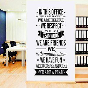 ufengke home Motivations in This Office Stickers Citation et Lettres de Mots Inspirés Simple Décoration Amovible DIY Vinyle Sticker Muraux Idéal comme Bureau Mural de la marque ufengke home image 0 produit