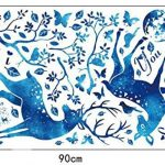 """ufengke® """"I Love You"""" Bleu Lumière Des Étoiles Cerf Feuilles Stickers Muraux, Salon Salle De Séjour Chambre À Coucher Décalcomanies Murales Autocollants Amovibles de la marque ufengke-décor image 3 produit"""