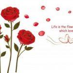 ufengke - motif : roses - Sticker mural pour chambre à coucher/salon - Décoration murale amovible de la marque ufengke-décor image 3 produit