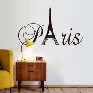 """Ufengke® """"Paris"""" Tour Eiffel Stickers Muraux, Salle De Séjour Chambre À Coucher Autocollants Amovibles de la marque ufengke-décor image 0 produit"""