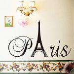 """Ufengke® """"Paris"""" Tour Eiffel Stickers Muraux, Salle De Séjour Chambre À Coucher Autocollants Amovibles de la marque ufengke-décor image 1 produit"""