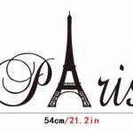 """Ufengke® """"Paris"""" Tour Eiffel Stickers Muraux, Salle De Séjour Chambre À Coucher Autocollants Amovibles de la marque ufengke-décor image 2 produit"""