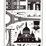 ufengke® Paysages Paris Au Clair de Lune Stickers Muraux, Salle de Séjour Chambre à Coucher Autocollants Amovibles de la marque ufengke-décor image 4 produit