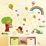 ufengke Stickers Muraux Animaux de Forêt Autocollant Mural Arbre Arc en Ciel pour Chambre Enfant Décoration Murale de la marque ufengke home image 1 produit