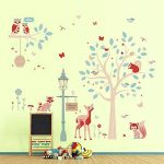 ufengke Stickers Muraux Animaux de la Forêt Autocollant Mural Arbre Cerf pour Chambre Enfants Bébé Décoration Murale de la marque ufengke home image 1 produit