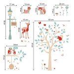 ufengke Stickers Muraux Animaux de la Forêt Autocollant Mural Arbre Cerf pour Chambre Enfants Bébé Décoration Murale de la marque ufengke home image 4 produit